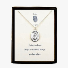 Saint Anthony Necklace Silver