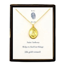 Saint Anthony Necklace Gold