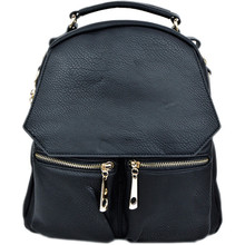 Double Zip  Backpack Black