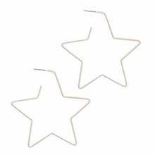 Star Hoop Silver