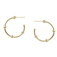 Small Ball Hoop Earring