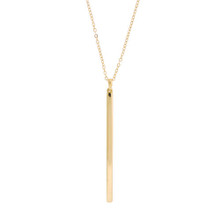 Bar Pendant Necklace Gold