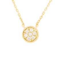 Crystal Station Necklace Gold