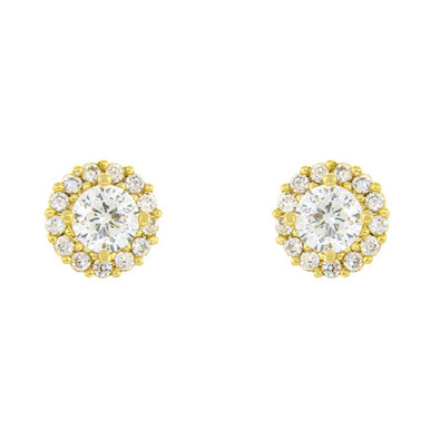 Crystal Party Stud Earring Gold