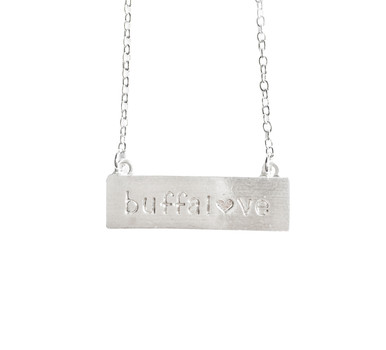 Buffalove Necklace Silver