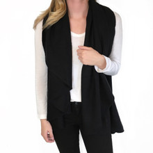 Look Wrap Sweater Vest Black