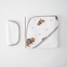 Buffalo Bison Hooded Towel Set