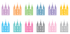 Cute LDS Planner - Temple stickers