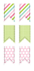 Cute LDS Planner - Small Pennant Stickers