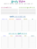 Faith & Works Planner:  Yearly vision goal sheet