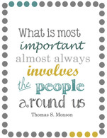 What is most important almost always involves the people around us.