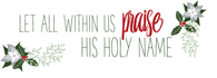 Praise His Holy Name printout