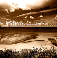 View from Virgin Gorda sepia pro texture