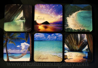 Pack of six assorted Island Coasters