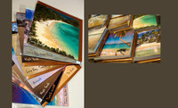 Pack of 10 Scenic BVI Beach Cards, 6x6 with metallic envelopes