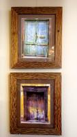 framed in repurposed teak 16x20