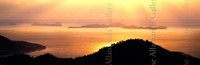 Sunrise in Tortola Panorama traditional