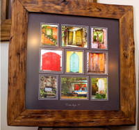 framed in our repurposed teak frame 18x18