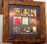 framed in our repurposed teak frame 18x18