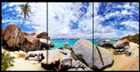 View from the Baths 2 panorama Triptych V Metal