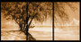 whistling pines sepia triptych vert