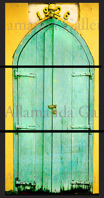 Church Door triptych Vertical