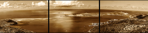 North Sound Sepia Triptych