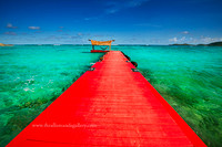 Red Dock, Necker Island- canvas