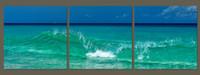 Sea Blue Triptych Canvas
