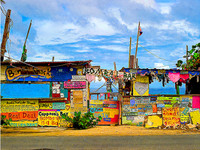 Bomba's Shack Stretched Canvas