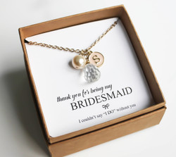 Trio necklace for bridesmaid (Custom)