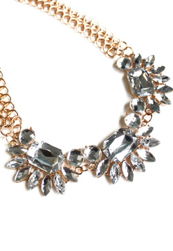 Riley rhinestone necklace