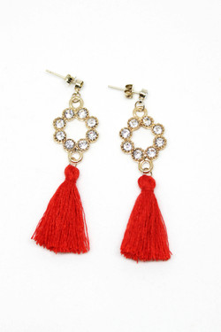 Rouge Tassel Earrings