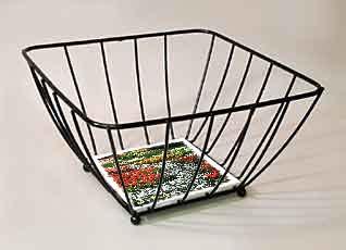 Medium Sized Black Wire Basket