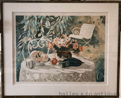 Lge Georges Blouin Framed Numbered Lithograph Fleurs et Fruits 50 of 170 - SF148LimEd