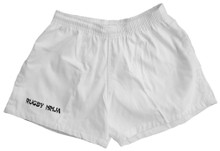 Cotton Rugby Shorts with Pockets - White