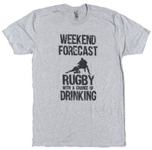 Weekend Forecast Rugby With a Chance of Drinking T-Shirt