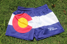 Colorado Flag Rugby Shorts