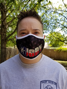 TEXAS Flag Rugby Mask (Over the Ear)