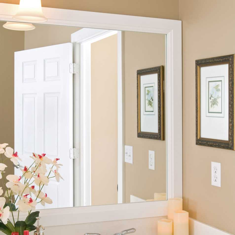 Durham Mirror Frame with our White Finish