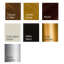 Performance Finish colors for our mirror frames