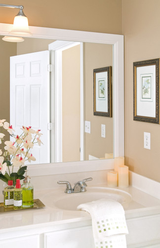"The Durham is a 3"" wide mirror frame"