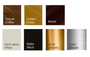 Performance Finish choices for our mirror frames, all with Microban Antimicrobial for cleanliness and durability