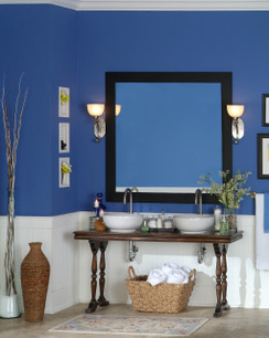 "Measuring 4"" wide, the Newburg mirror frame give a lot of style to your vanity"