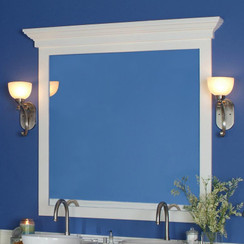 The Maysville is a cornice-like cap for our mirror frames sold separately
