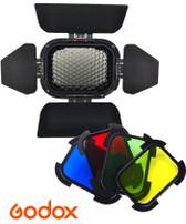 Godox 神牛 BD-07 蜂巢罩連4色濾色片AD200閃光燈專用