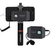 Comica CVM-WS50(B) Professional UHF 6-Channels Lavalier Wireless Smartphone Microphone 智能電話無線收音咪