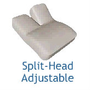 Split-Head Adjustable