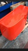 Orange Seat/Locker without upholstery