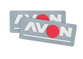 Avon Name Patch Light Grey (pair)